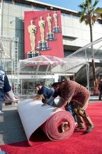 Oscar red carpet