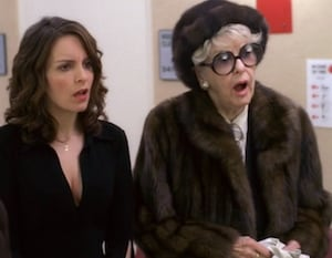 Tina Fey and Elaine Stritch
