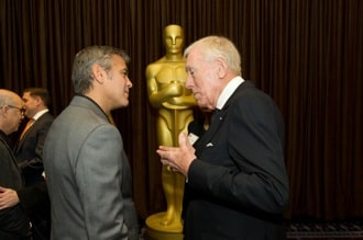 George Clooney and Max von Sydow