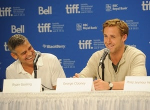 George Clooney and Ryan Gosling