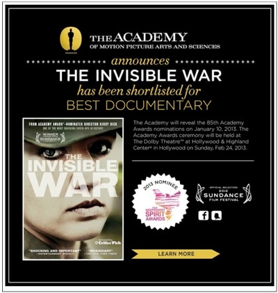 Invisible War email