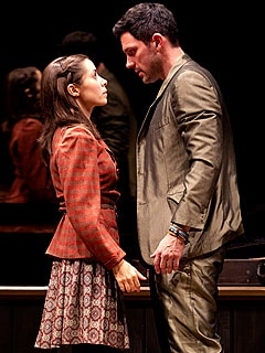 Cristin Miliotti and Steve Kazee in Once