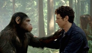 Andy Serkis and James Franco in Rise of the Planet of the Apes