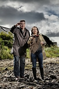 Ciaran Hinds and Kerry Condon in The Shore