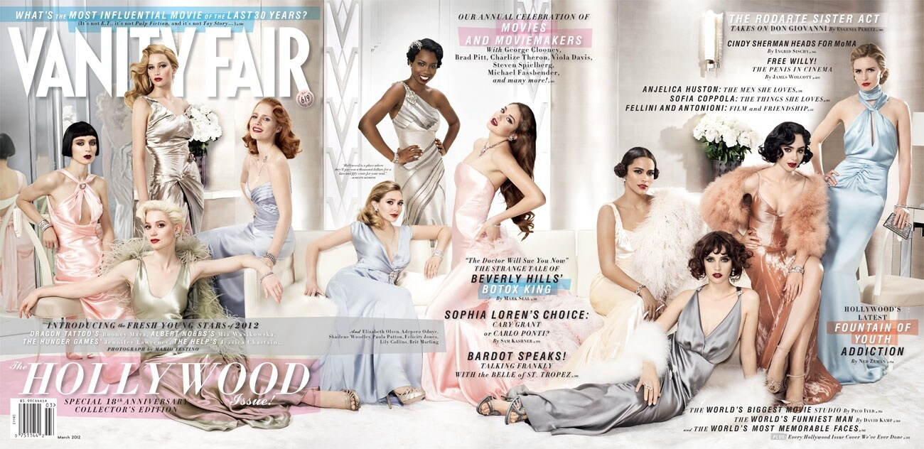 Vanity Fair Hollywood issue features Jennifer Lawrence, Rooney Mara, Jessica Chastain, Elizabeth Olsen, Mia Wasikowska, Shalene Woodley, Felicity Jones, Paul Patton, Lily Collins, Adepero Oduye and Brit Marling