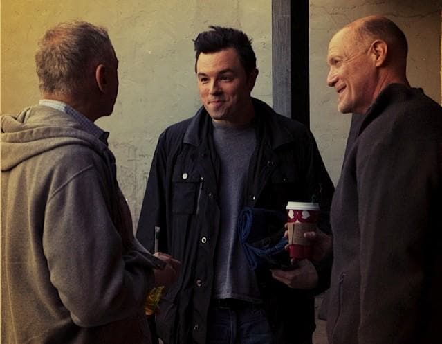Seth MacFarlane with Craig Zadan and Neil Meron