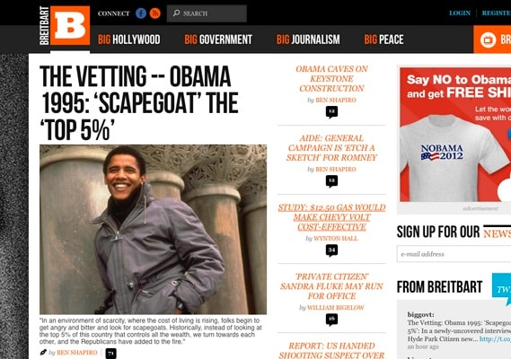 New Breitbart site