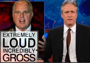 Jon Stewart on Rush Limbaugh