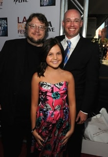 Guillermo del Toro, Bailee Madison and Troy Nixey