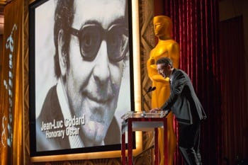 Jean-Luc Godard and Vincent Cassell