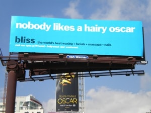 Hairy Oscar billboard