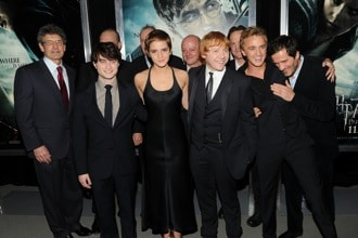 Alan Horn and Harry Potter cast