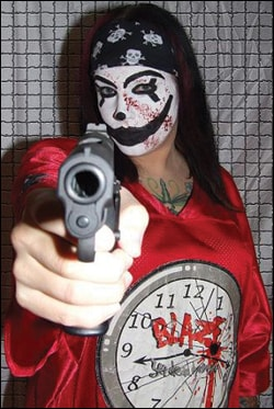 What a female Juggalo -- aka, a Jugalette -- might look like, according to an FBI report