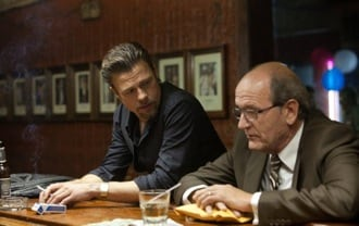 Brad Pitt and Richard Jenkins in Killing Them Softly