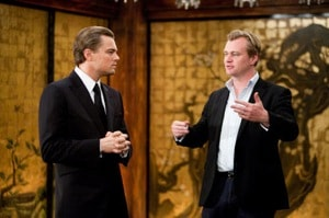Leonardo DiCaprio and Christopher Nolan