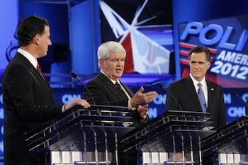 Sparring between Mitt Romney and Newt Gingrich helped to propel CNN's Florida debate