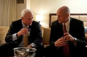 Ed Harris and Woody Harrelson in Game Change