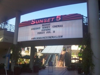 Sunset 5 marquee