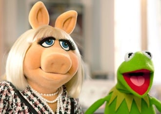 Miss Piggy and Kermit the Frog