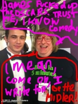 James Franco and Bruce Vilanch