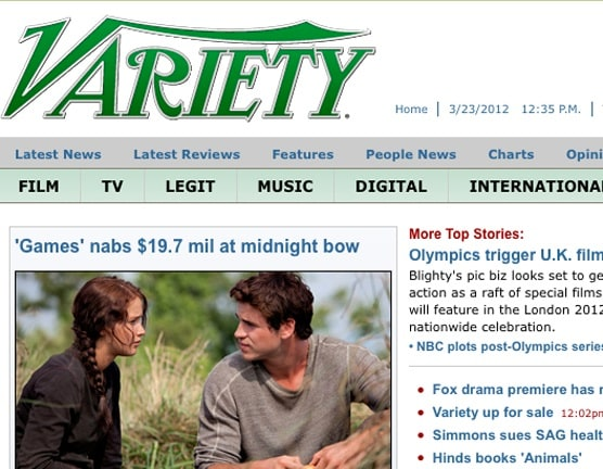 variety front page