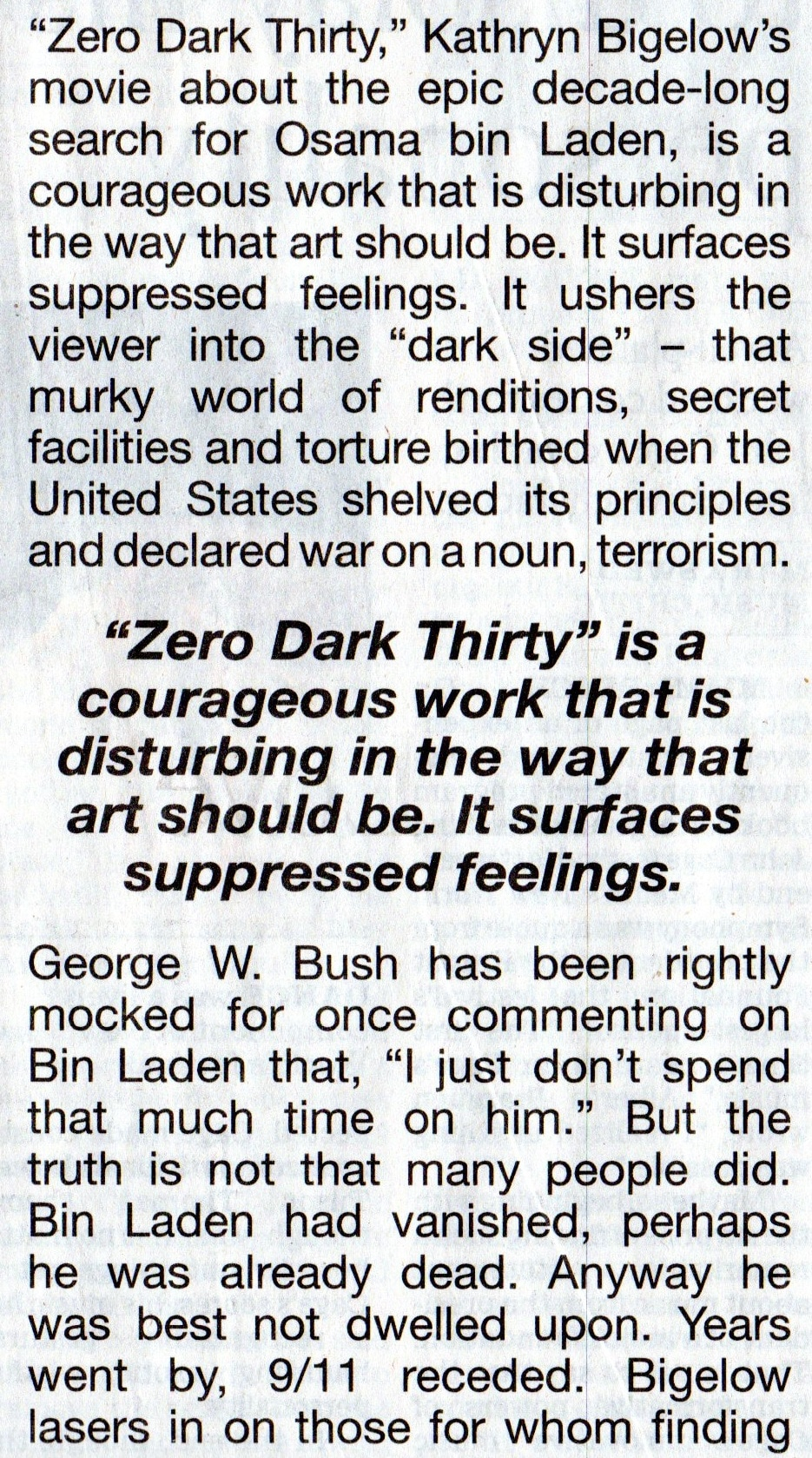 Zero Dark Thirty ad