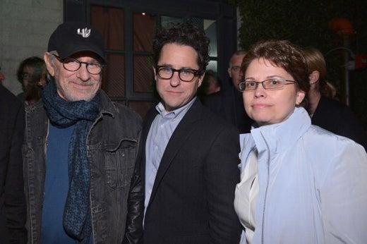 Steven Spielberg, producer J.J. Abrams and Trina Vargo