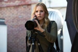 "Kristen Bell as Veronica Mars in ""Veronica Mars."""