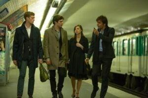 Jordan Rountree Adam Brody Carrie MacLemore and Adriano Giannini in The Cosmopolitans