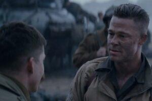 "Logan Lerman and Brad Pitt in ""The Fury"""