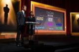 Chris Hemsworth and Cheryl Boone Isaacs announcing 2013 Oscar nominations