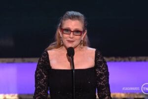 Carrie Fisher at the 2015 Screen Actors Guild Awards