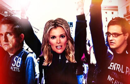 ESPN's Bill Simmons, Fox News' Megyn Kelly, MSNBC's Chris Hayes (iStock/networks)