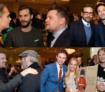 Highlights from BAFTA's Awards Season Tea at the Four Seasons on Saturday afternoon. (Getty Images)