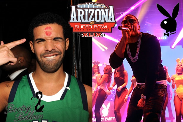 COVER - Playboy Super Bowl Party Drake Nelly