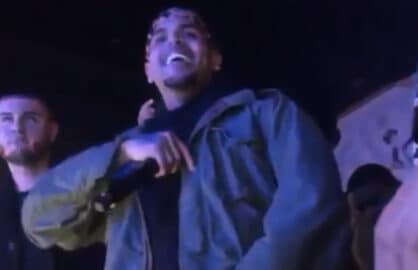 Chris Brown is shown moments before a nightclub shooting (Vine)