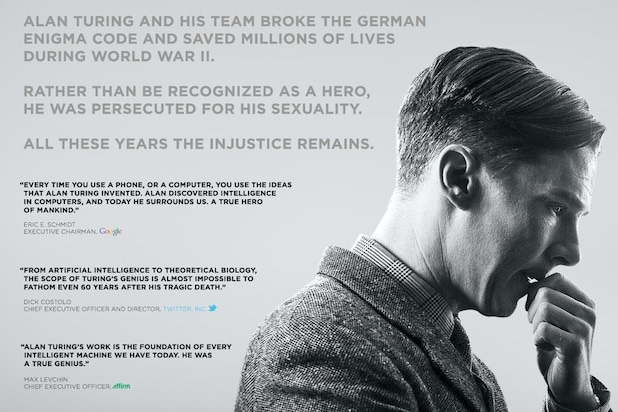 advertisement for 'The Imitation Game'