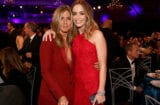 JANUARY 15: (EXCLUSIVE COVERAGE) Actresses Jennifer Aniston (L) and Emily Blunt pose during the 20th annual Critics' Choice Movie Awards at the Hollywood Palladium on January 15, 2015 in Los Angeles, California. (Photo by Christopher Polk/Getty Images for CCMA)