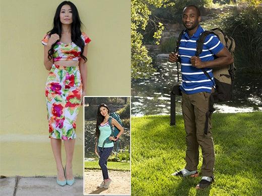 Fashion lawyer turned fashion blogger Jenny Wu and sports agent lawyer Jelani Roy. (GoodBadandFab.com; MontyBrinton/CBS)
