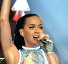 Katy Perry performs live