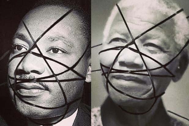 Martin Luther King Jr Nelson Mandela Rebel Heart