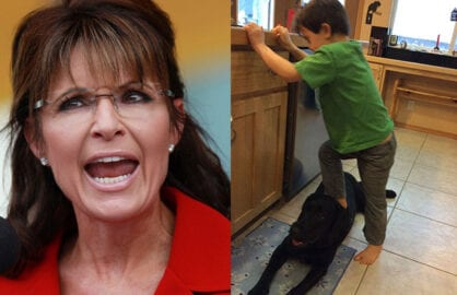 Revised-Sarah-Palin-and-Trig-on-Dog