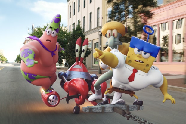51f7cca60 'The SpongeBob Movie' Review: Swims in Silliness, Even on Dry Land