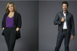 "Shawn Johnson and Lorenzo Lamas for ""The Celebrity Apprentice"""