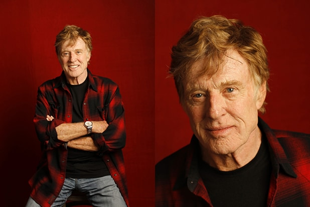 """A Walk in the Woods"" star Robert Redford, photographed by Patrick Fraser at TheWrap's Kia photobooth during the 2015 Sundance Film Festival in Park City, Utah on Jan. 23, 2015."