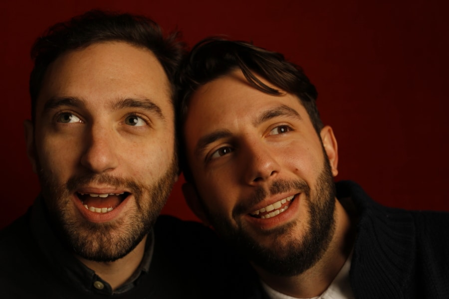 """Animals"" creators Mike Luciano and Phil Matarese (l-r), photographed by Patrick Fraser at TheWrap's Kia photobooth during the 2015 Sundance Film Festival in Park City, Utah on Jan. 23, 2015."