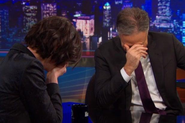 Anne Hathaway Jon Stewart