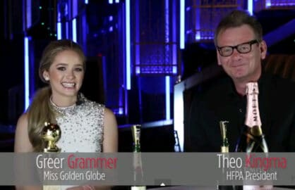 Greer Grammer and HFPA President Theo Kingma (TheWrap)