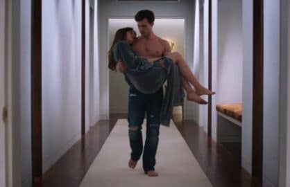 "Jamie Dornan and Dakota Johnson in ""Fifty Shades of Grey"""
