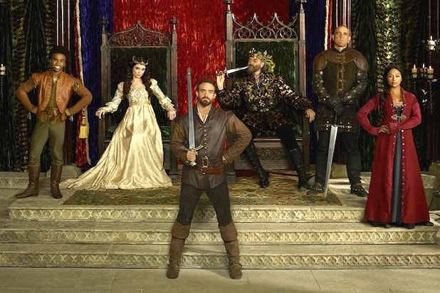 abc galavant LUKE YOUNGBLOOD, MALLORY JANSEN, JOSHUA SASSE, TIMOTHY OMUNDSON, VINNIE JONES, KAREN DAVID